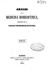 Anales de la medicina homeopática: Volumen 3