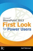 SharePoint 2013   First Look for Power Users PDF