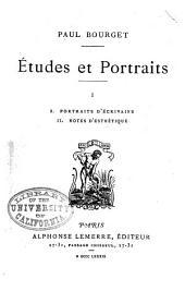 Portraits d'ecrivains. Notes d'esthétique