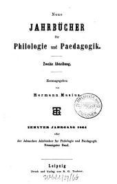 Neue Jahrbücher für Philologie und Pädagogik: Band 90