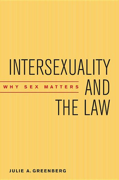 Intersexuality and the Law Pdf Book