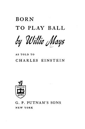 Born to Play Ball PDF