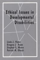Ethical Issues in Developmental Disabilities PDF