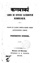Liber de officiis sacerdotum Buddhicorum