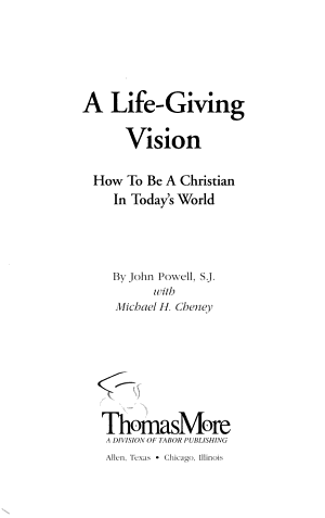 A Life Giving Vision PDF