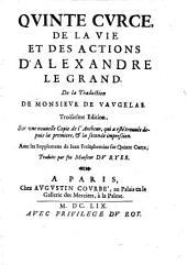 De La Vie Et Des Actions D'Alexandre Le Grand. De la Traduction de Monsieur De Vaugelas