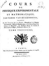 Cours de physique experimentale et mathematique