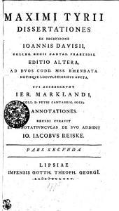 Maximi Tyrii Dissertationes: Pars secunda, Σελίδα 2