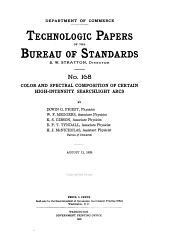 Technologic Papers of the Bureau of Standards: Issues 168-176
