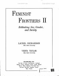 Feminist Frontiers III