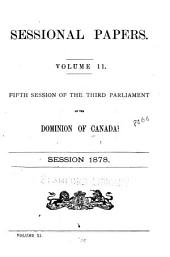 Sessional Papers: Volume 11, Issue 11