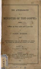 The autobiography of a minister of the gospel