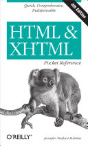 HTML & XHTML Pocket Reference