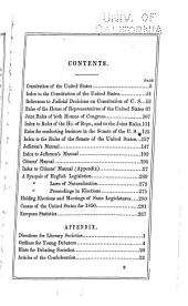 The Legislative Guide, Containing All the Rules for Conducting Business in Congress: Jefferson's Manual; and the Citizens' Manual, Including a Concise System of Rules of Order Founded on Congressional Proceedings: with Copious Notes and Marginal References ...