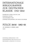 Internationale Bibliographie zur deutschen Klassik 1750 1850 PDF