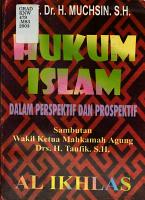 Hukum Islam dalam perspektif   prospektif PDF