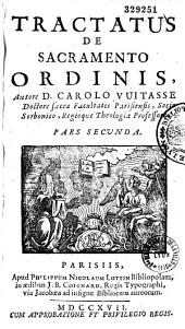 Tractatus de sacramento ordinis
