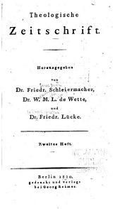 Theologische Zeitschrift: Band 2