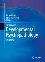 Handbook of Developmental Psychopathology PDF
