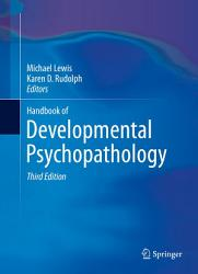 Handbook Of Developmental Psychopathology Book PDF