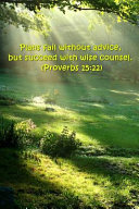 2019 Weekly Planner Bible Verse Plans Fail Succeed Counsel Proverbs 15 22