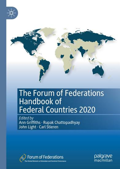 The Forum of Federations Handbook of Federal Countries 2020 PDF