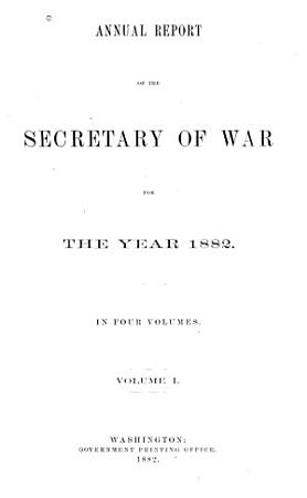 Annual Reports of the Secretary of War PDF