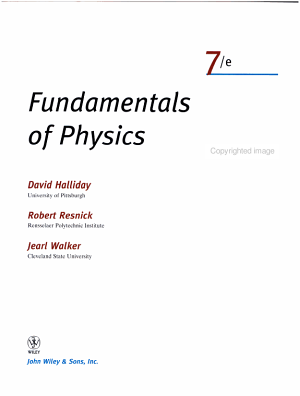 Fundamentals of Physics  Part 2  Chapters 12 20  PDF