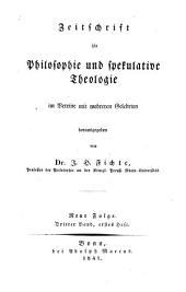 Zeitschrift für Philosophie und spekulative Theologie: Bände 7-8