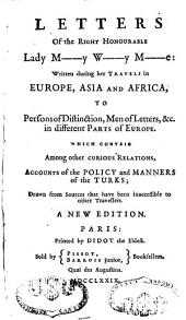 Letters written during her travels in Europe, Asia et Africa