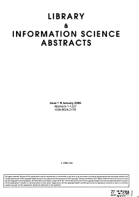 Library   Information Science Abstracts
