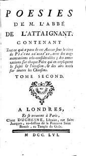 Poésies de M. l'Abbé de L'Attaignant ...