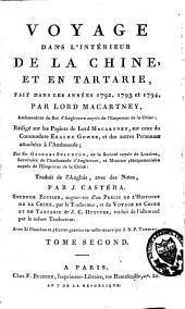 Voyage dans l'intérieur de la Chine et en Tartarie, fait dans les années 1792, 1793 et 1794: Volume2
