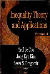 Inequality Theory and Applications: Volume 4