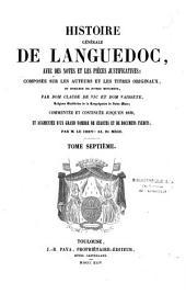 Histoire générale du Languedoc avec des notes et les pièces justificatives: De 1184 à 1234 environ, Volume5