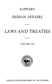Kappler's Indian Affairs Laws and Treaties