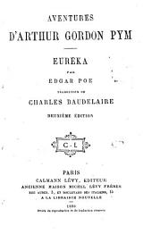 Aventures d'Arthur Gordon Pym. Euréka, par Edgar Poe, traduction. 2. éd. 1880