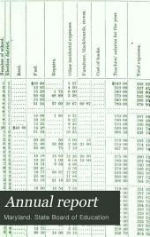 Annual Report: Showing Condition of the Public Schools of Maryland...