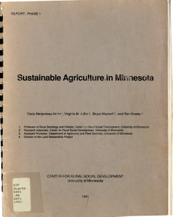 Sustainable Agriculture in Minnesota PDF