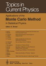 Applications of the Monte Carlo Method in Statistical Physics