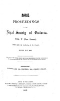 Proceedings of the Royal Society of Victoria PDF