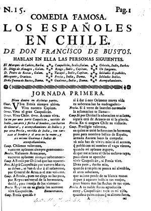 Los Espa  oles en Chile  In three acts and in verse