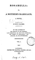 Rosabella  or  A mother s marriage  by the author of The romance of the Pyrenees PDF