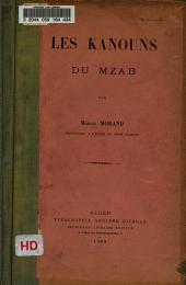 Les kanouns du Mzab