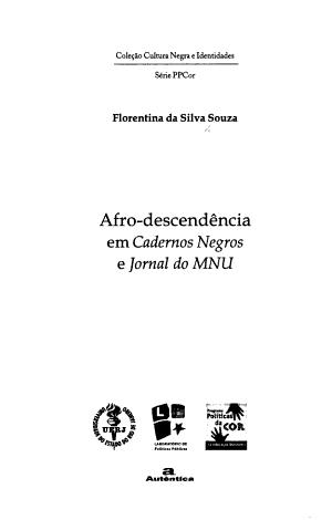 Afro descend  ncia em Cadernos negros e Jornal do MNU PDF