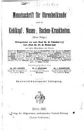 Monatsschrift für Ohrenheilkunde und Laryngo-Rhinologie: Band 29