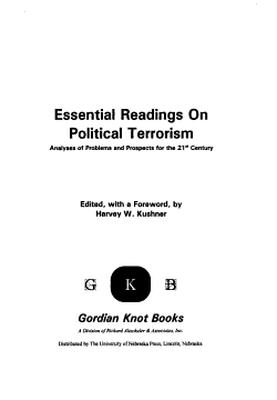 Essential Readings on Political Terrorism PDF