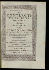 Disputatio Iuridica De Contractibus Qui Re Perficiuntur