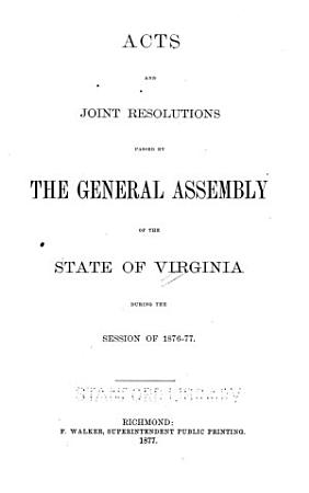 Acts of the General Assembly of the Commonwealth of Virginia PDF