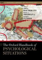 The Oxford Handbook of Psychological Situations PDF